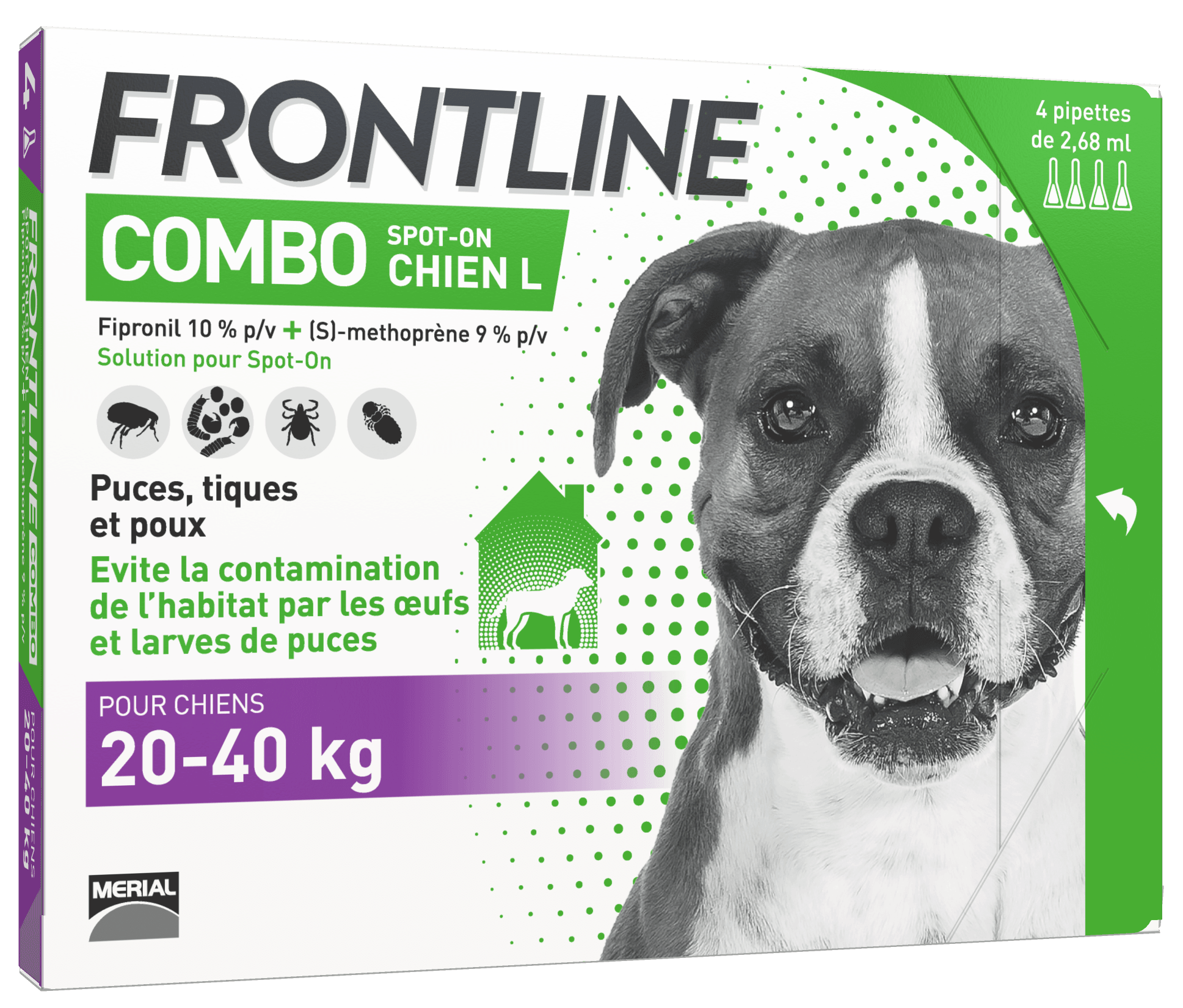 frontline combo chien anti-puces anti-tiques