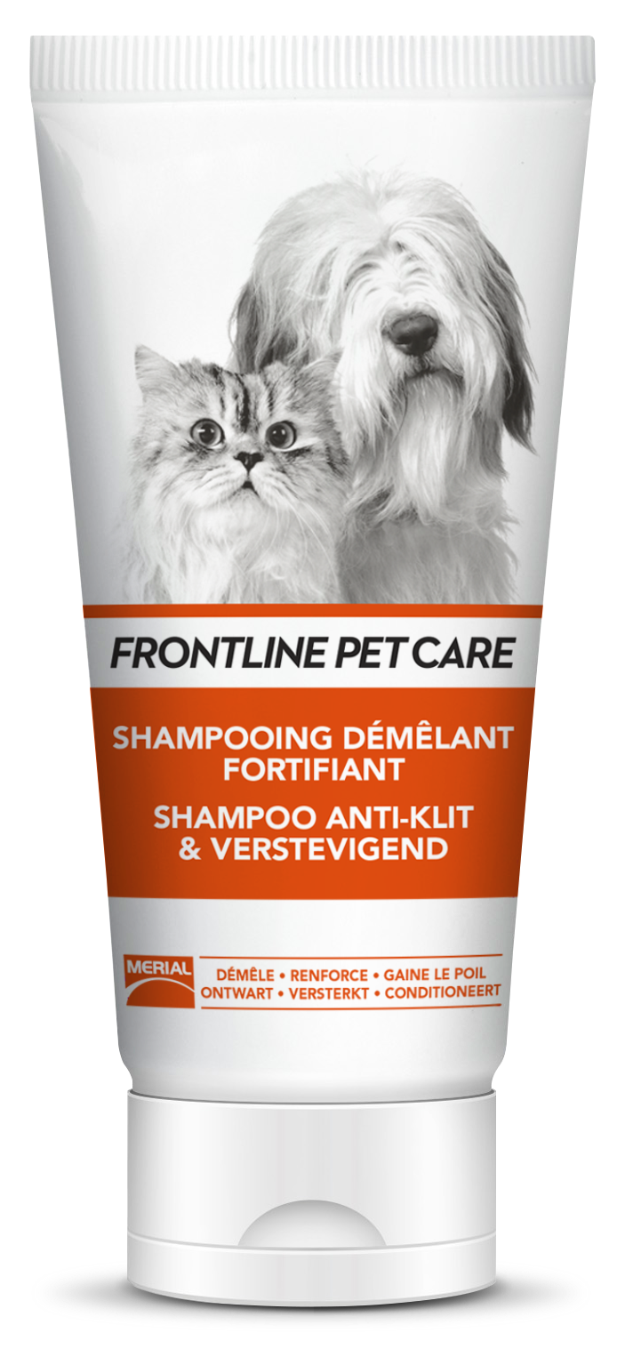 shampoing chien chat poils longs frontline pet care