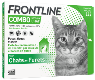 frontline combo chat antipuces tiques