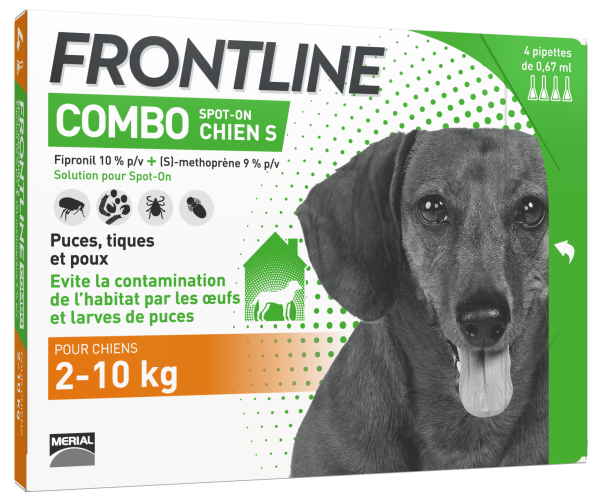 frontline combo anti puces chien