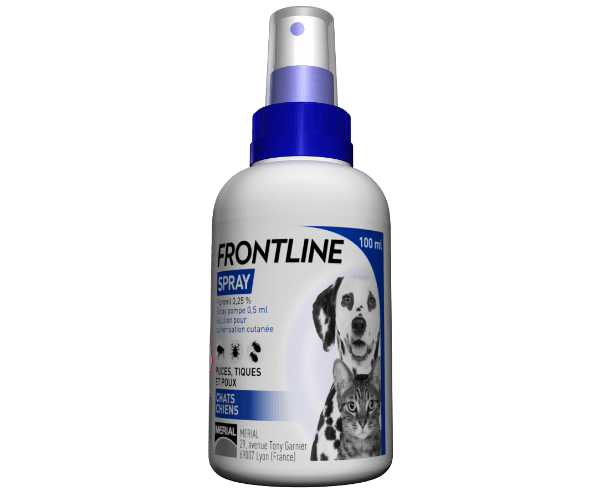 frontline spray chien chat