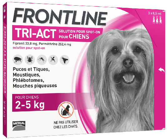 anti puces chien frontline tri act